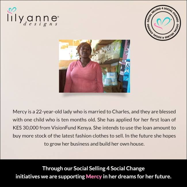 We are changing the world... one woman at a time. We believe that when women are empowered, so too are families; communities; the world. When you partner with Lily Anne Designs® you are empowering another woman in a developing country. Read Mercy's story... #LilyAnneDesigns #SocialSelling #ChangingTheWorld