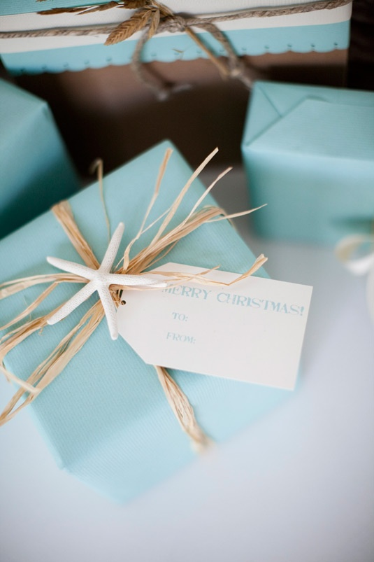 Seaside Wrapping ~ not just for Christmas