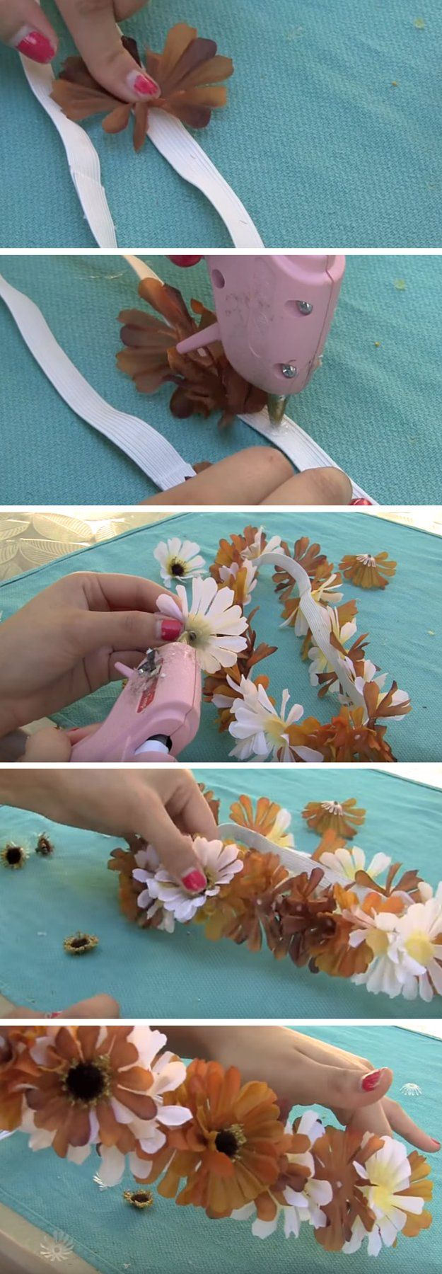 How to Make a DIY Flower Headband | Fabulous Flower Crown Great For Weddings, Parties And More! by DIY Ready at http://diyready.com/how-to-make-a-diy-flower-headband/