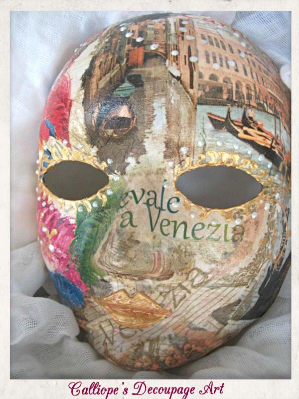 Decorative Mask | Calliope's Decoupage Art
