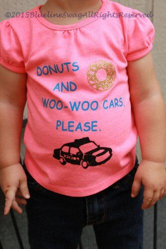 """Police Baby Police Kid T-Shirt """"Donuts And Woo Woo Cars, Please"""" Thin Blue Line Kid Thin Blue Line Baby Police Kid Apparel Police Baby Shirt by BluelineSwag on Etsy https://www.etsy.com/listing/245520604/police-baby-police-kid-t-shirt-donuts"""
