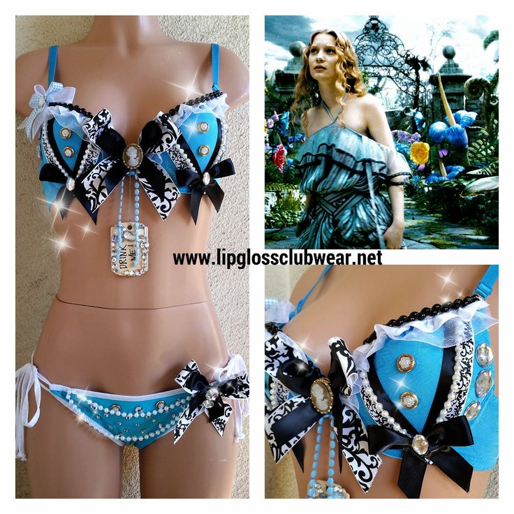 Alice in Wonderland inspired Rave Bra Adult by LipglossWear