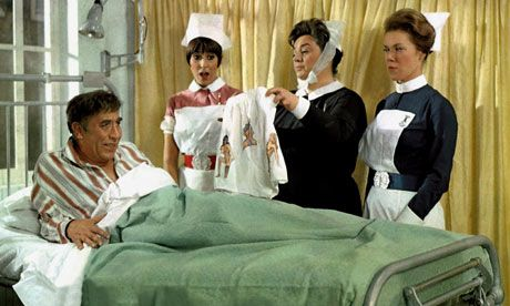 Frankie Howerd in Carry on Doctor: hospitals have been told to make patients' lives more stimulating. Photograph: Allstar