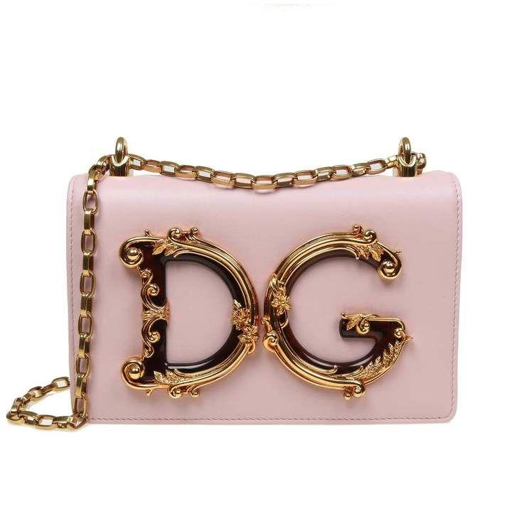Dolce & Gabbana Shoulder Bag In Pink Leather