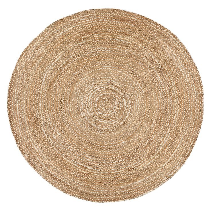 BuyCroft Collection Jute Round Rug, Natural, Dia.180cm Online at johnlewis.com