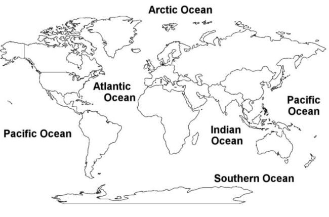 Learn the oceans ocean unit pinterest coloring for for Continents coloring page