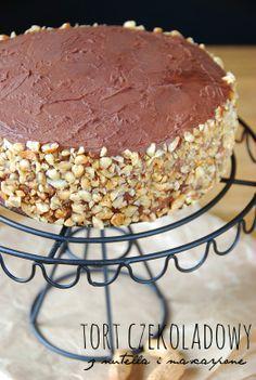 Tort czekoladowy z nutella i mascarpone
