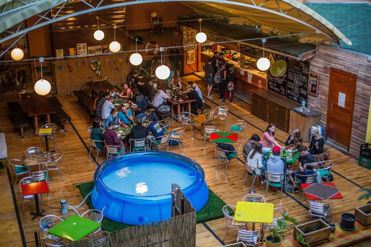 Enjoy the summer pool and terrace bar at this central Budapest hostel, and meet your new friends!