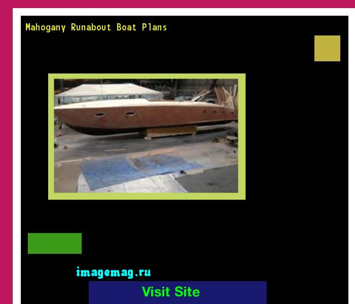 Mahogany Runabout Boat Plans 130949 - The Best Image Search