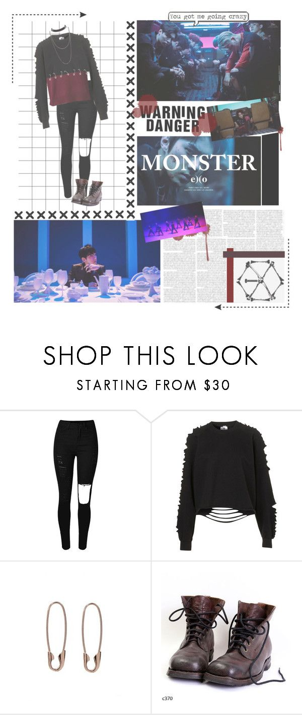 """""""Monster // Exo"""" by tribelle ❤ liked on Polyvore featuring The Ragged Priest, Loren Stewart, outfit, kpop, monster, EXO and korea"""