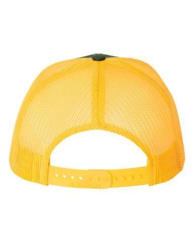 6d24f98b Dark Green Gold - Snapback Trucker Hat | Richardson Blank Snapback ...