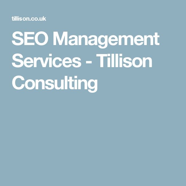 SEO Management Services - Tillison Consulting