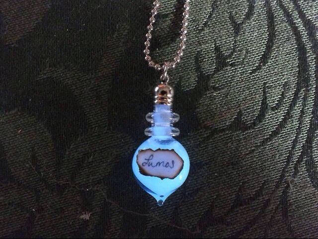 Harry Potter Lumos Glow In The Dark Necklace (sold on Etsy)