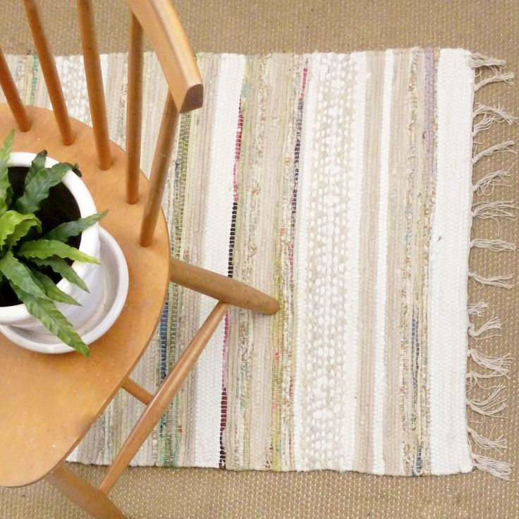 sigrid white and beige patterned rug from Skandihome