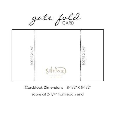 Stampin' Dolce: Fun Fold Card - GDP022