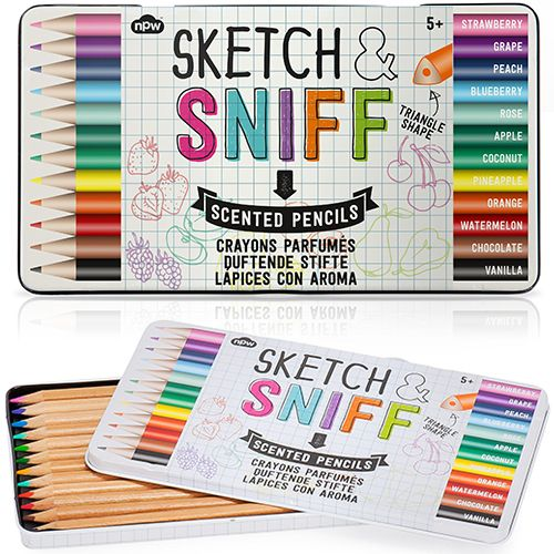 Enjoy the sweet smells of success while you create you artwork with our terrific Sketch + Sniff Scented Pencils!  These scented colored pencils may come in a rainbow of colors, but thanks to their tr