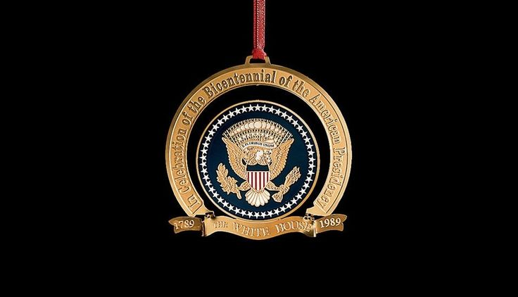 White House Christmas Ornament: 1989