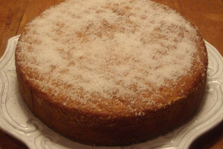 Moist Coconut Cake - A Brazilian original, soaked with a Coconut Syrup.