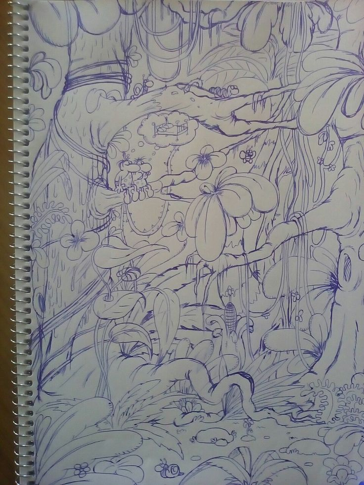 this started out as a doodle. not bad what it turned into. simple blue ballpoint pen