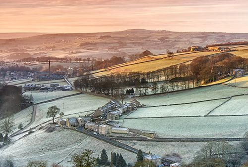 Looking towards Booth and Luddenden at sunrise