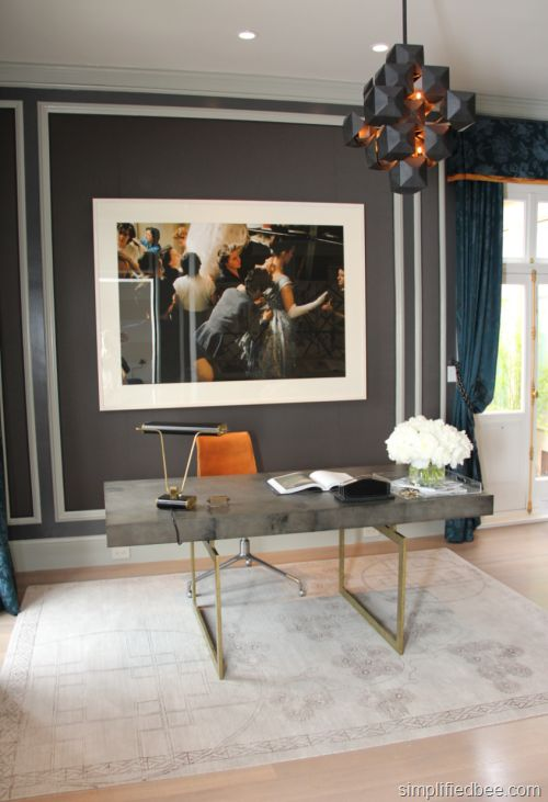 {Fashion Design Blogger's Office designed by Catherine Kwong Design} #SFDS