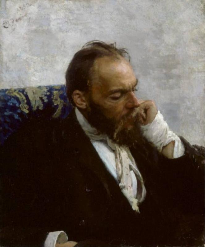 Portrait of Professor Ivanov, 1882  Ilya Repin