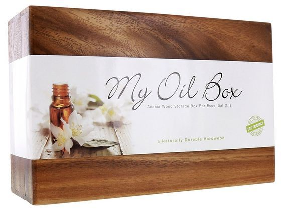 My Oil Box Acacia Essential Oil Box, 40 Compartment *** Review more details here : NOW essential oils