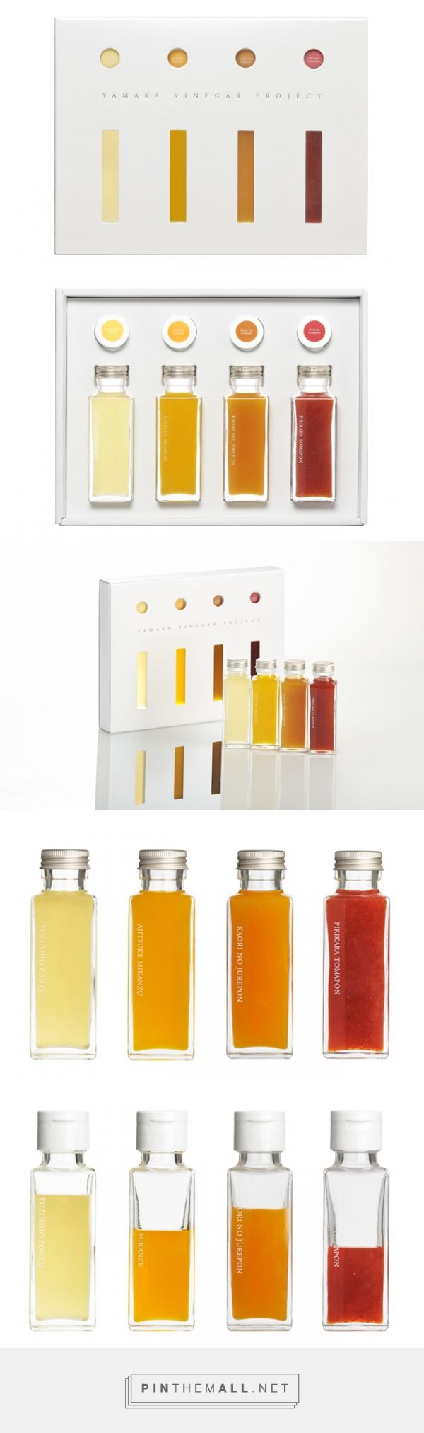YAMAKA VINEGAR PROJECT via SHIROKURO curated by Packaging Diva PD. Just lovely packaging.