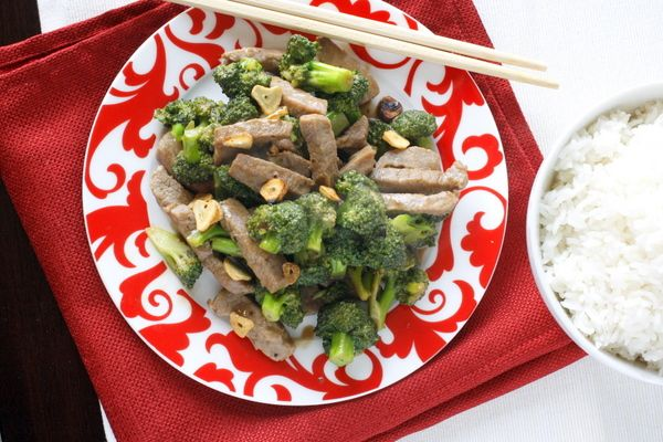 beef & broccoli stir fry. (would love to substitute chicken for beef ...