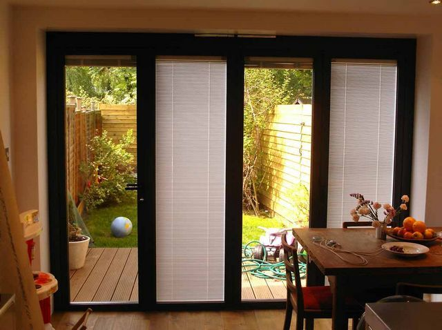 Is Built In Patio Door Blinds A Good Choice | Drapery Room Ideas