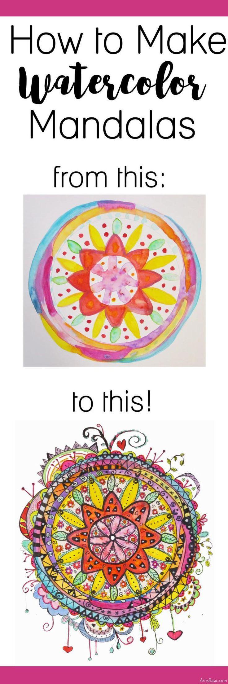How to Make Watercolor Mandalas