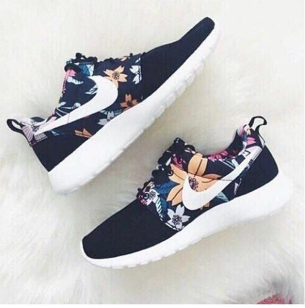 NIKE Women Men Running Sport Casual Shoes Sneakers Flower