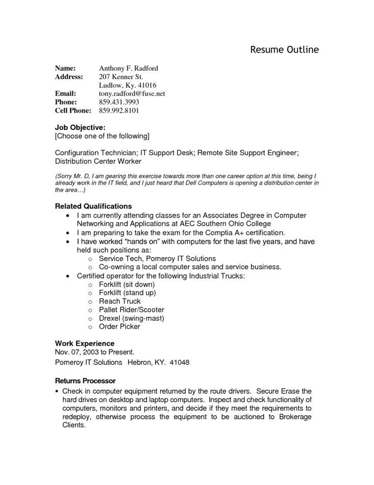 190 best Resume Cv Design images on Pinterest Resume, Resume - outline of a resume