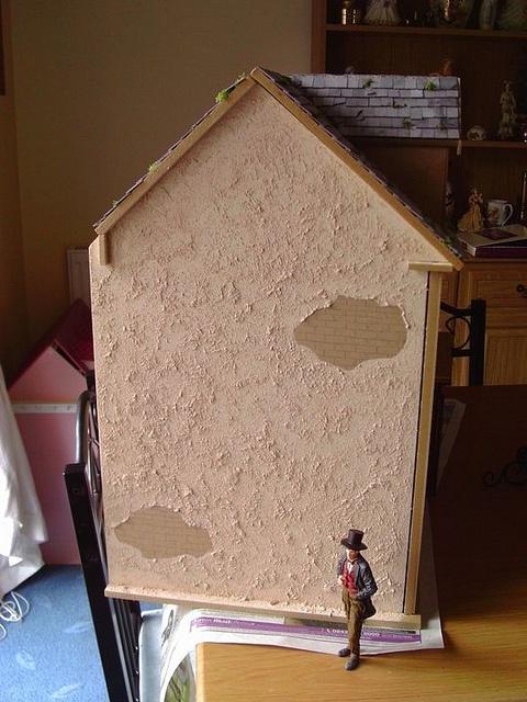 Mr Scrooge admiring the new plaster work by Sweetbriar Dreams, via Flickr