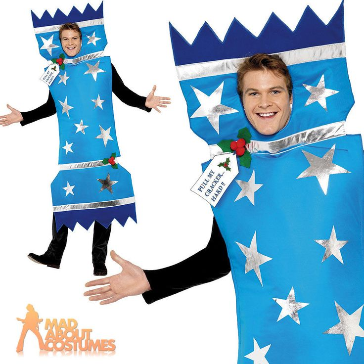 Adult Christmas Cracker Costume Mens Ladies Xmas Fancy Dress Outfit New