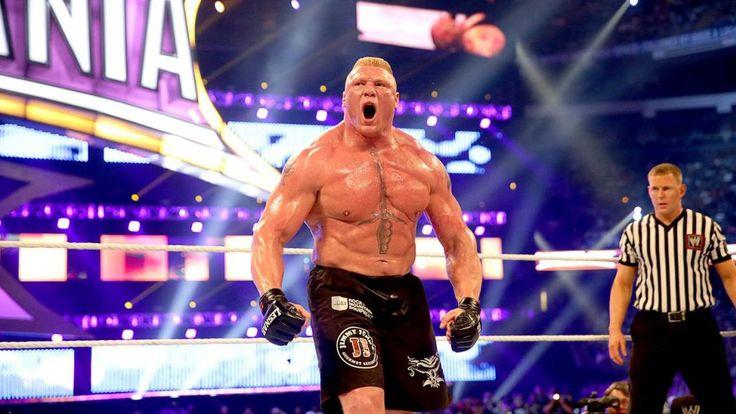 Brock Lesnar en su lucha ante The Undertaker en WWE WrestleMania 30 (06/04/2014) / ©WWE