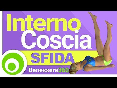 Sfida Interno Coscia. Esercizi per Dimagrire l'Interno Coscia - YouTube