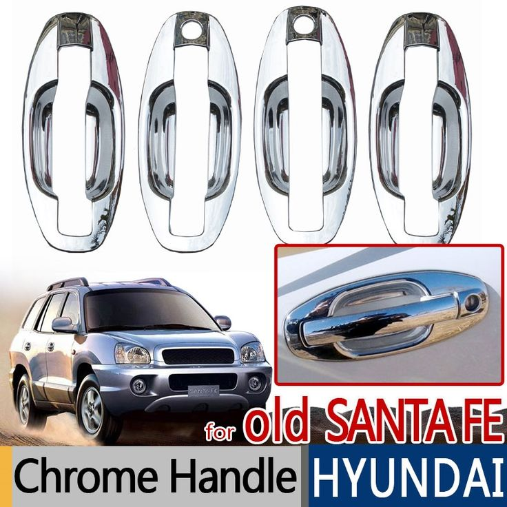 41.15$  Buy now - http://ali6pt.shopchina.info/go.php?t=32438643571 - For Hyundai Santa Fe 2001-2006 Accessories Chrome Trim Exterior Door Handle Covers Classic 2002 2003 2004 Car Styling Stickers 41.15$ #aliexpresschina
