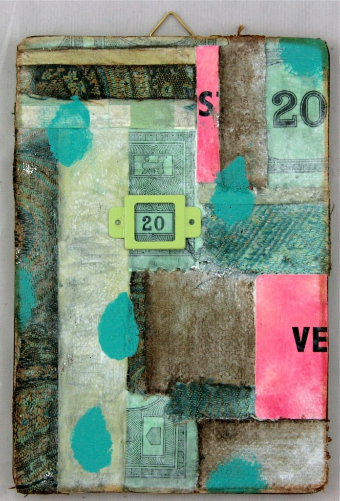 Gauche Alchemy - Mixed Media Collaged Placemat using Mixed Media Color Kits (By:  Linda Brun)