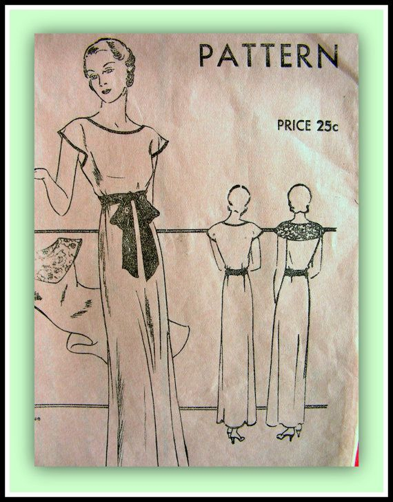 1930s Vintage Vogue Pattern 6172  GLAMOROUS Evening by anne8865