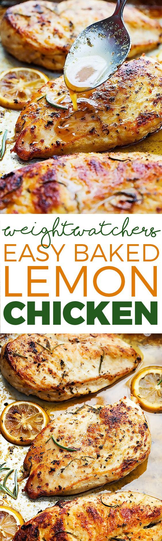 EASY HEALTHY BAKED LEMON CHICKEN (Weight Watchers SmartPoints)