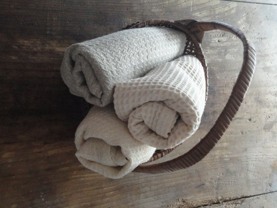 s o f t  natural bath towel _ handmade from by malacosmetics
