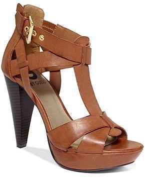 G by GUESS Women's Shoes, Henzie Platform Wedge Sandals -cut a little off th…