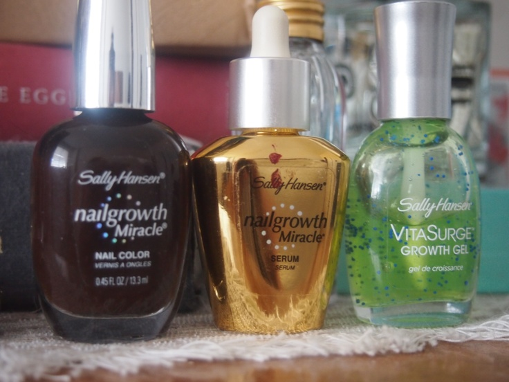 My trio of Sally Hansen products for longer, stronger nails