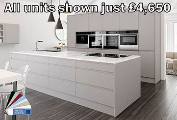 Kitchenfindr can provide a wide range of matt kitchens for your needs. Look at the range of matt kitchens in our gallery.