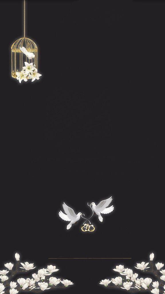اللهم بارك لهما وبارك عليهما Flower Background Wallpaper Phone Wallpaper Images Foliage Wedding Decor