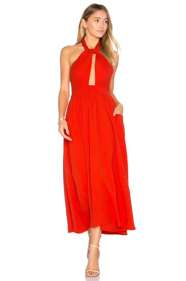 Mara Hoffman Knot Front Dress in Poppy