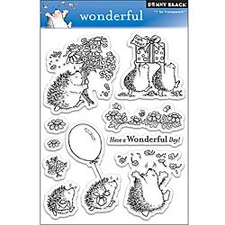 Penny 'Wonderful' Clear Stamps   HEDGIE STAMPS!