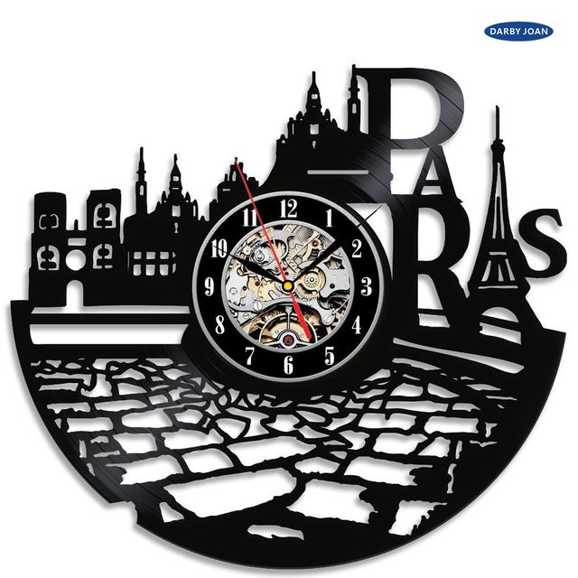 Check it on our site France Paris City Theme Vinyl Wall Clock Bedroom Decoration la crosse dial vision just only $26.65 with free shipping worldwide  #clocks Plese click on picture to see our special price for you