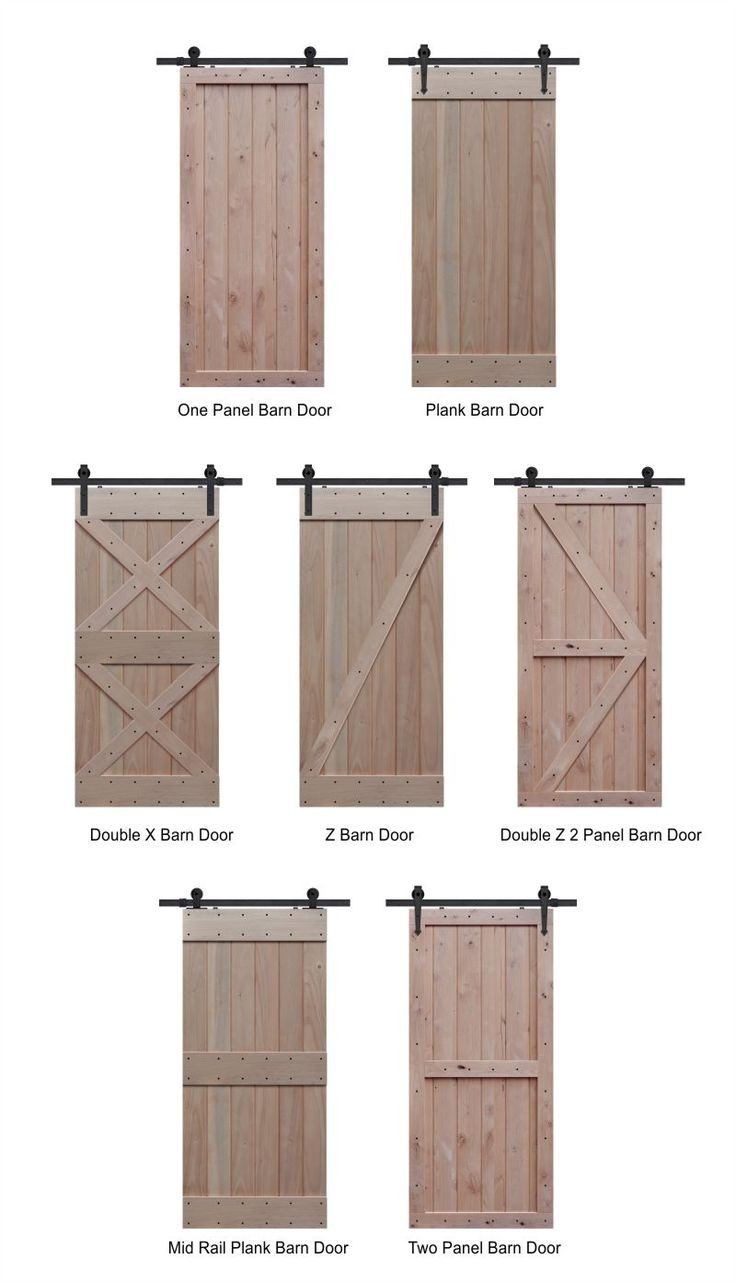 Knotty Alder Barn Door Styles